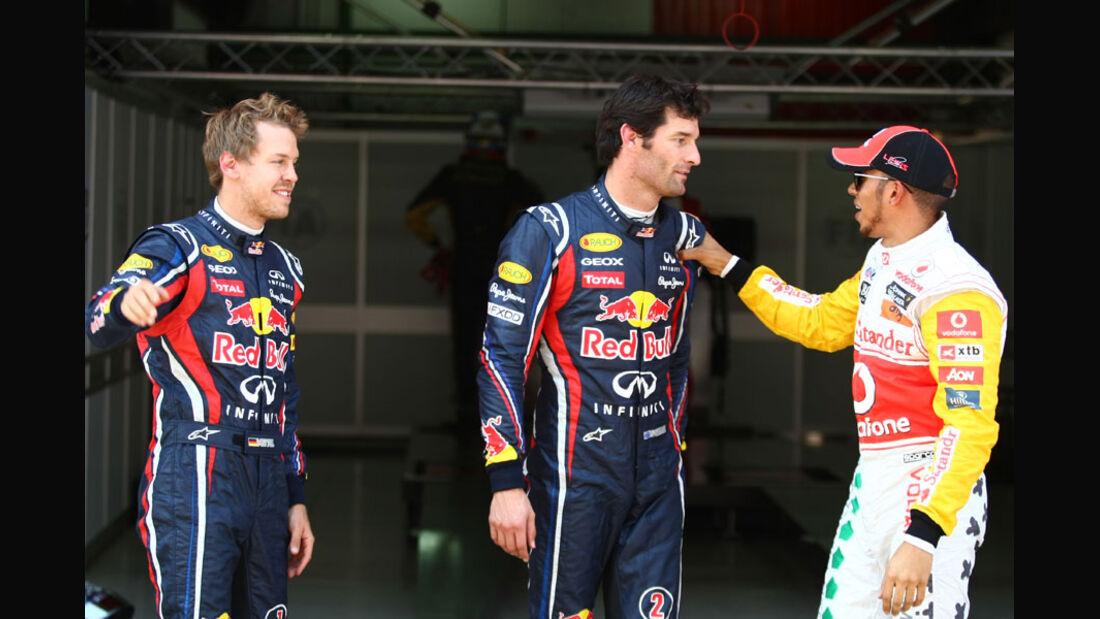 Vettel, Webber & Hamilton