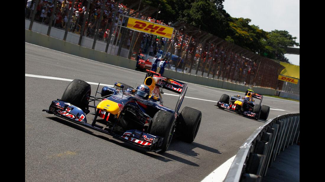 Vettel Webber Red Bull 2010
