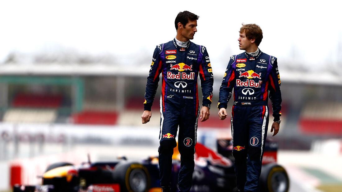 Vettel Webber Red Bull 2013