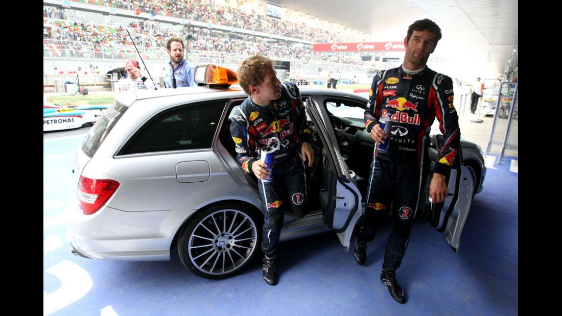 Vettel Webber Red Bull - GP Indien