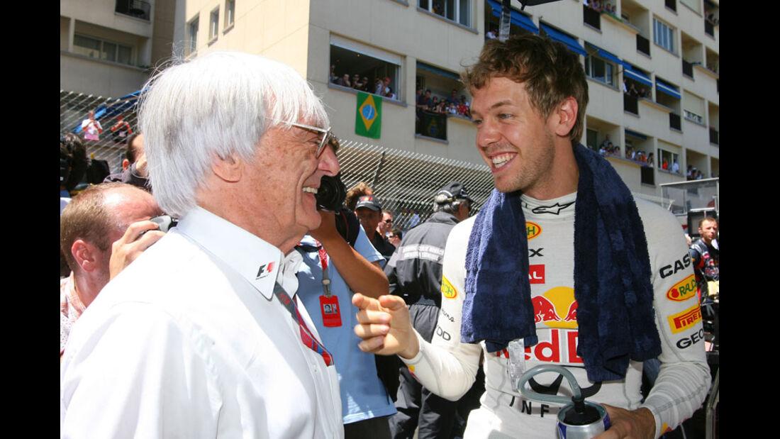 Vettel und Ecclestone GP Monaco 2011
