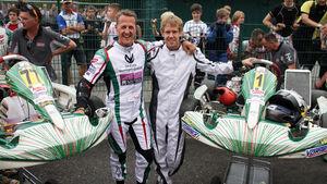 Vettel und Schumacher beim Kart