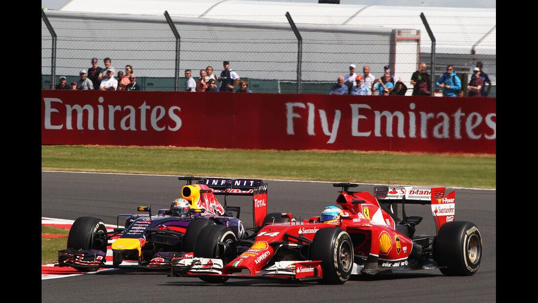 Vettel vs. Alonso - GP England 2014 - Formel 1 - Tops & Flops