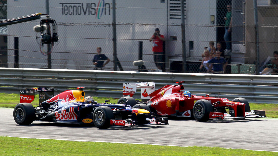 Vettel vs. Alonso GP Italien 2012