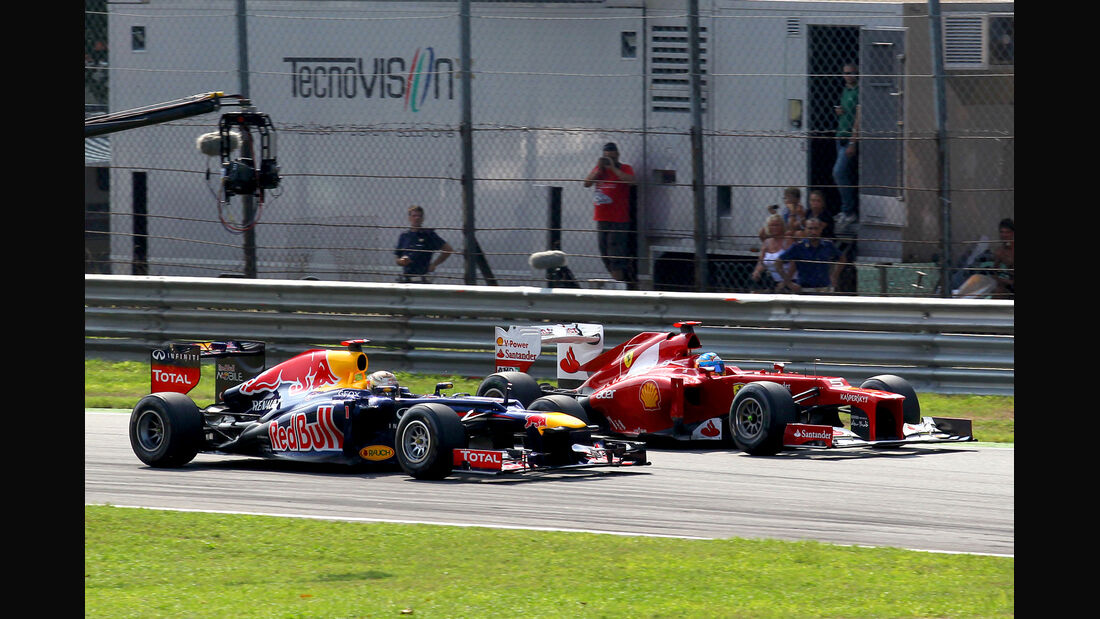 Vettel vs. Alonso GP Italien 2012
