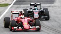 Vettel vs. Alonso - GP Kanada 2015