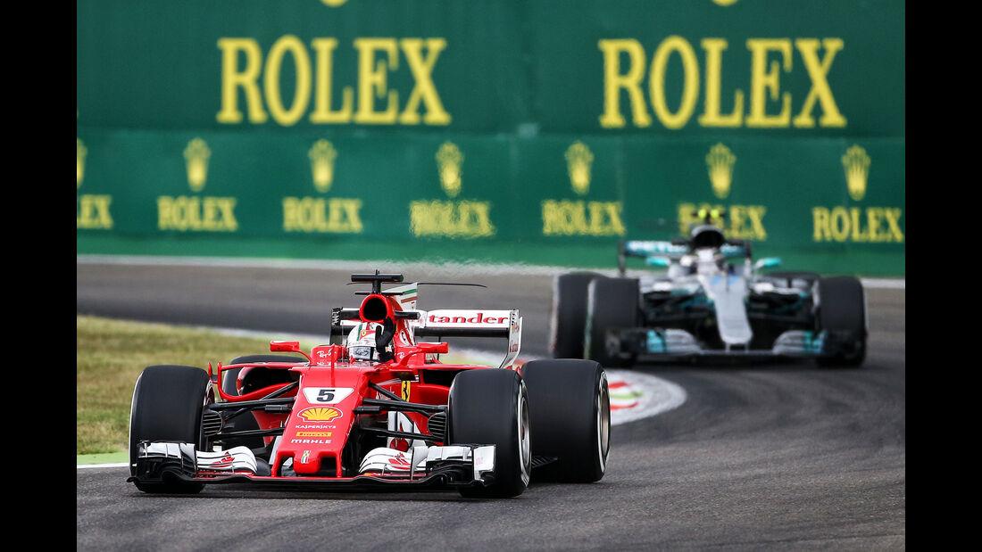 Vettel vs. Bottas - Formel 1 - GP Italien - Monza - 1. September 2017