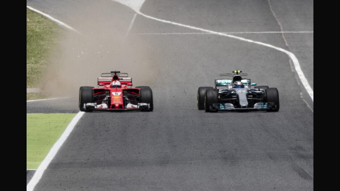 Vettel vs. Bottas - GP Spanien 2017