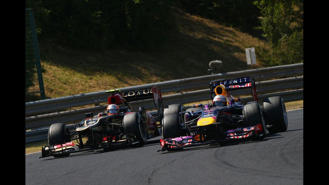 Vettel vs. Grosjean - Formel 1 - GP Ungarn 2013