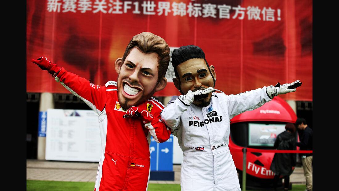 Vettel vs. Hamilton - Formel 1 - GP China - Shanghai - 14. April 2018