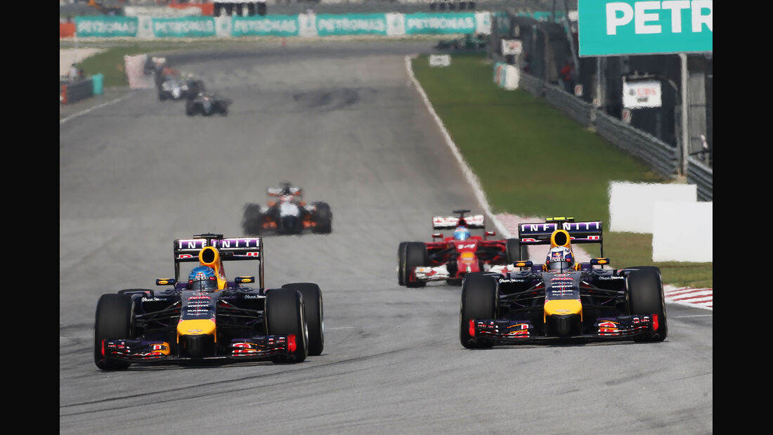 Vettel vs. Ricciardo - GP Malaysia 2014