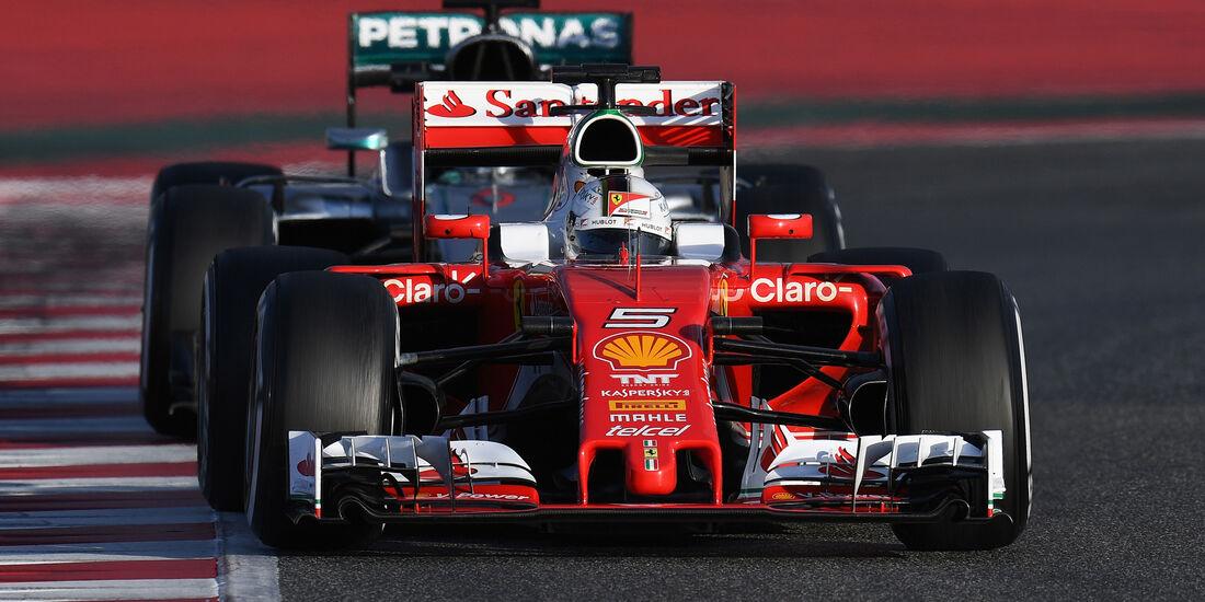 Vettel vs. Rosberg - Ferrari vs. Mercedes - Formel 1 - Test - Barcelona - 2. März 2016