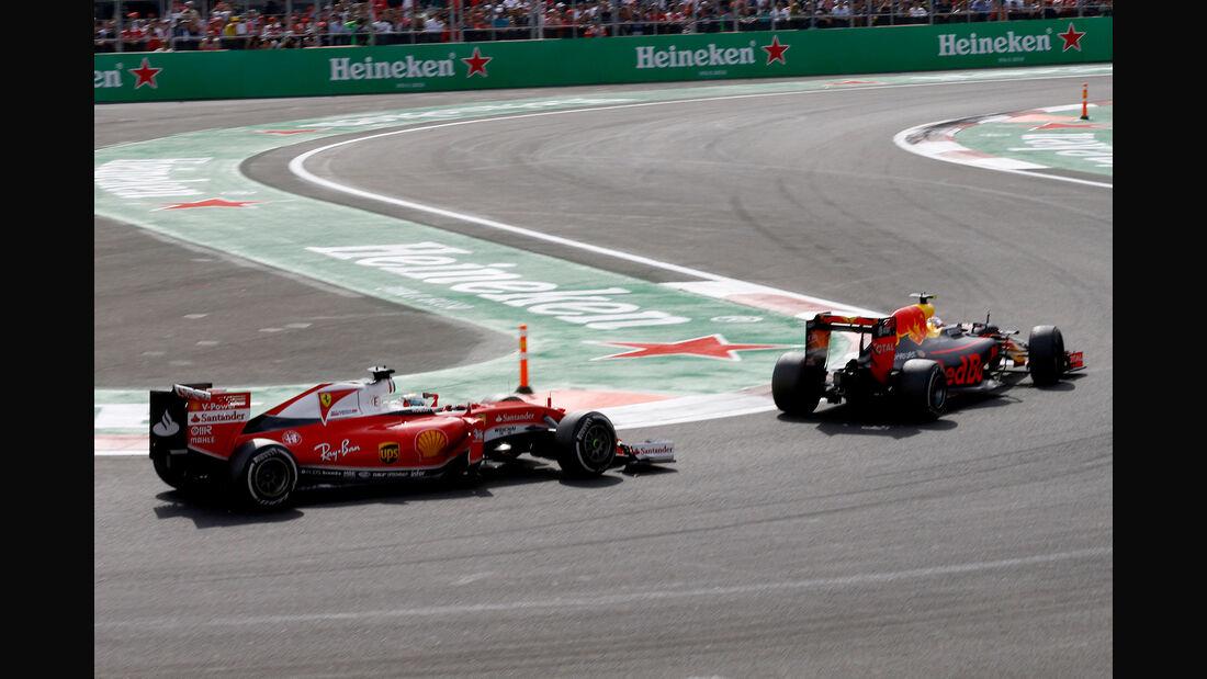 Vettel vs. Verstappen - GP Mexiko 2016