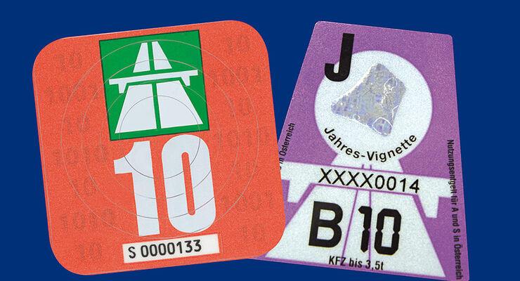 Vignette Schweiz Österreich 2010