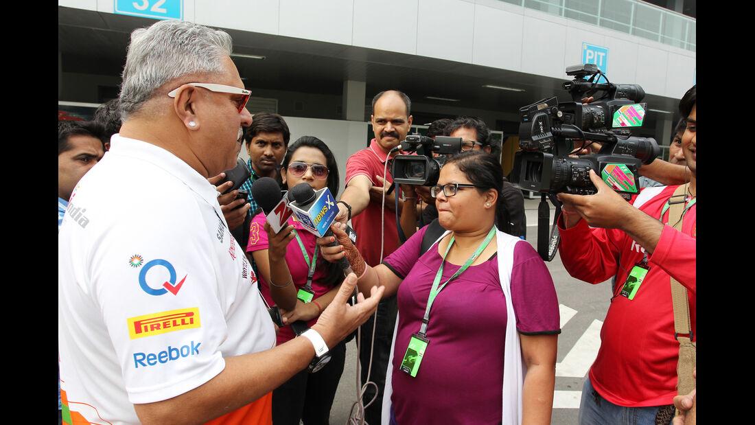 Vijay Mallya - Force India - Formel 1 - GP Indien - 25. Oktober 2013