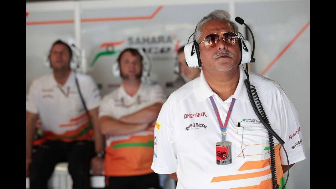 Vijay Mallya Force India - Formel 1 - GP Italien - 08. September 2012