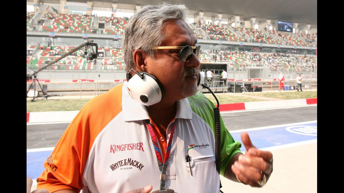 Vijay Mallya - GP Indien - Training - 28.10.2011
