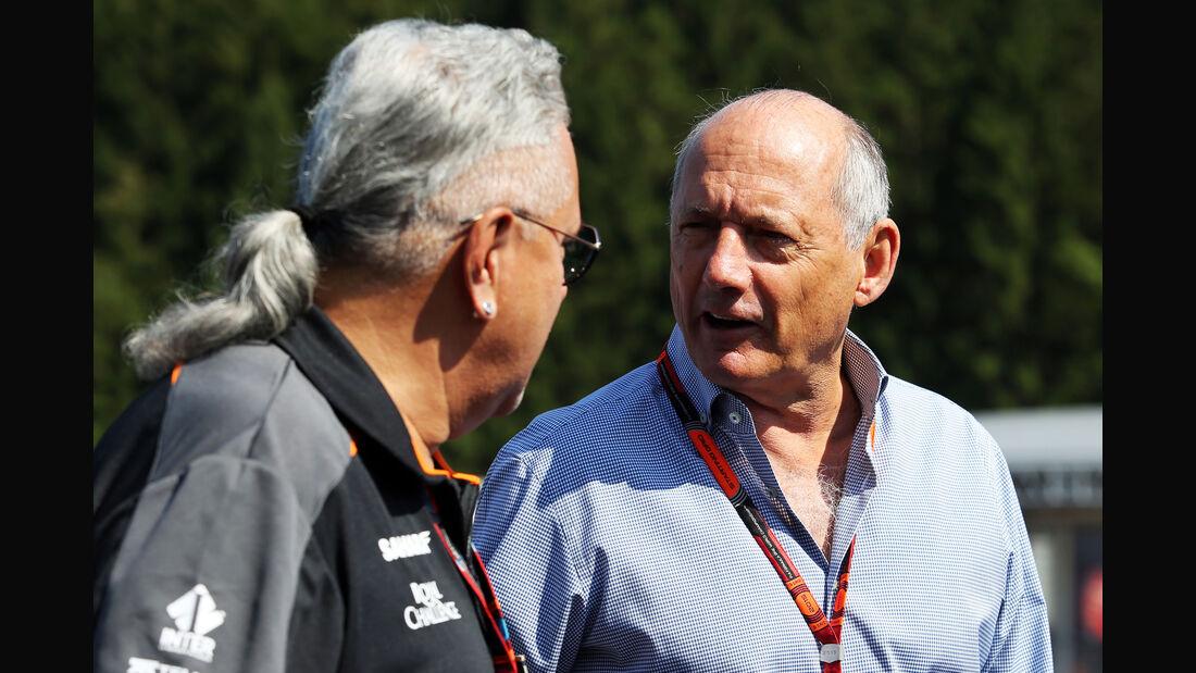 Vijay Mallya & Ron Dennis - Formel 1 - GP Belgien - Spa-Francorchamps - 22. August 2015