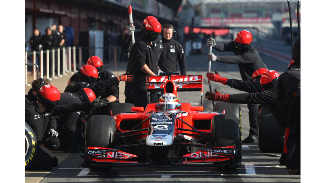 Virgin MVR-02 D'Ambrosio Formel 1 Test Barcelona 2011