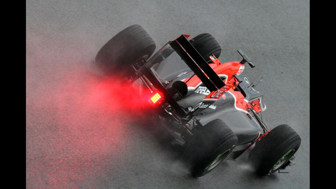 Virgin MVR-02 Formel 1 Test Barcelona 2011