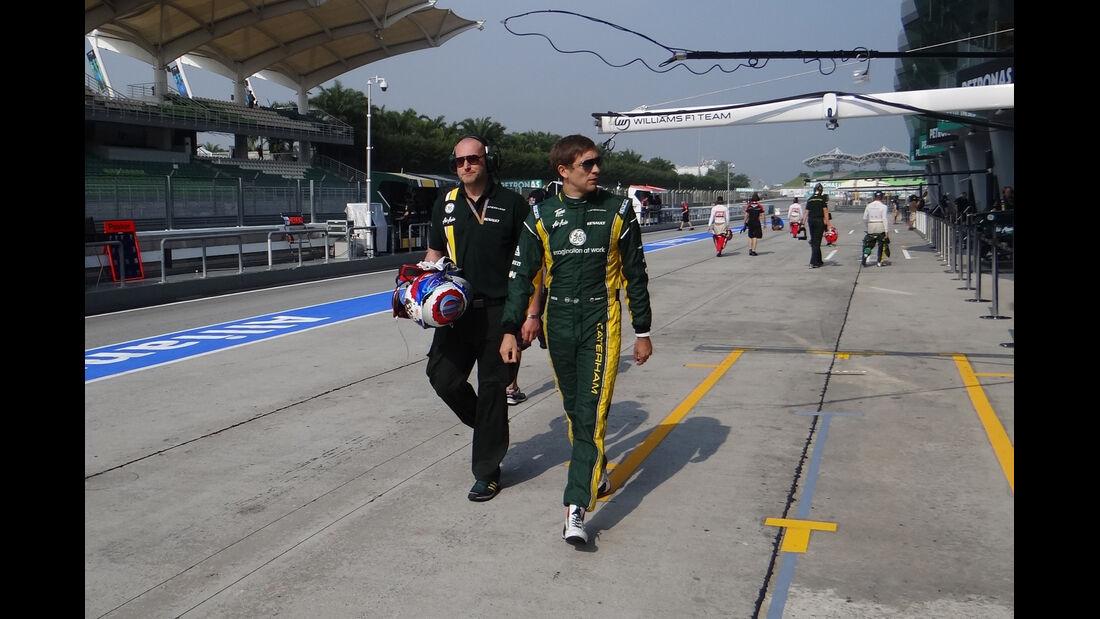 Vitaly Petrov - Caterham - GP Malaysia - Training - 23. März 2012
