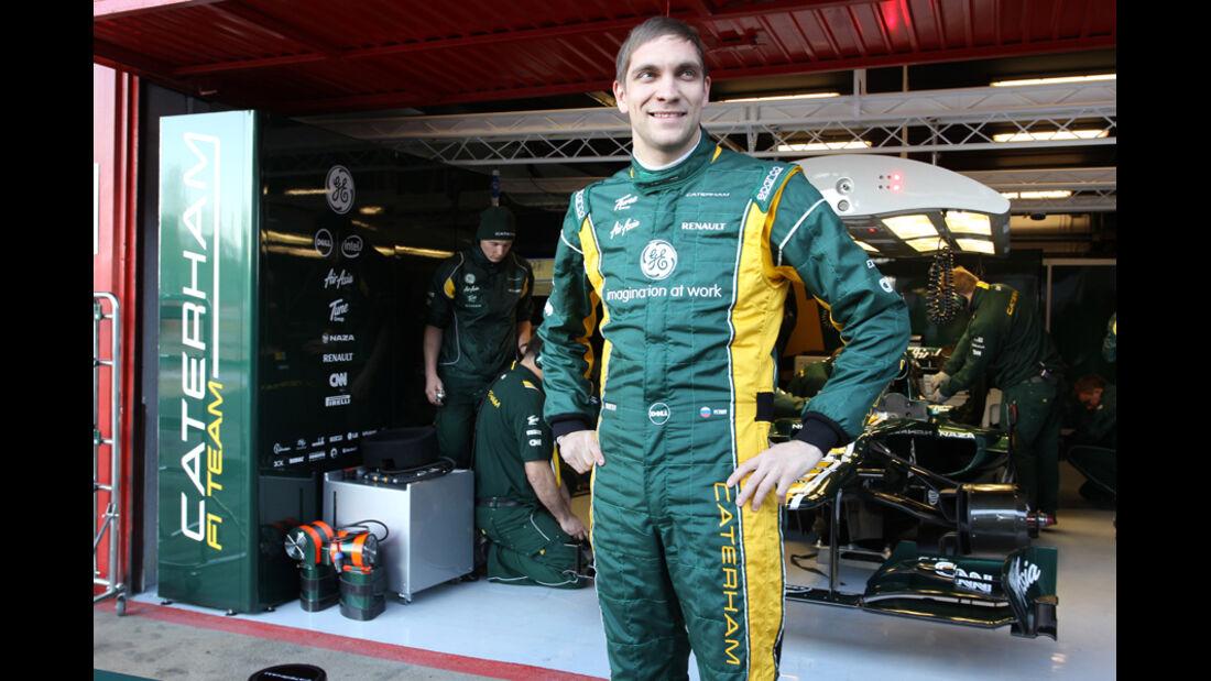 Vitaly Petrov - F1-Test - Barcelona 2012