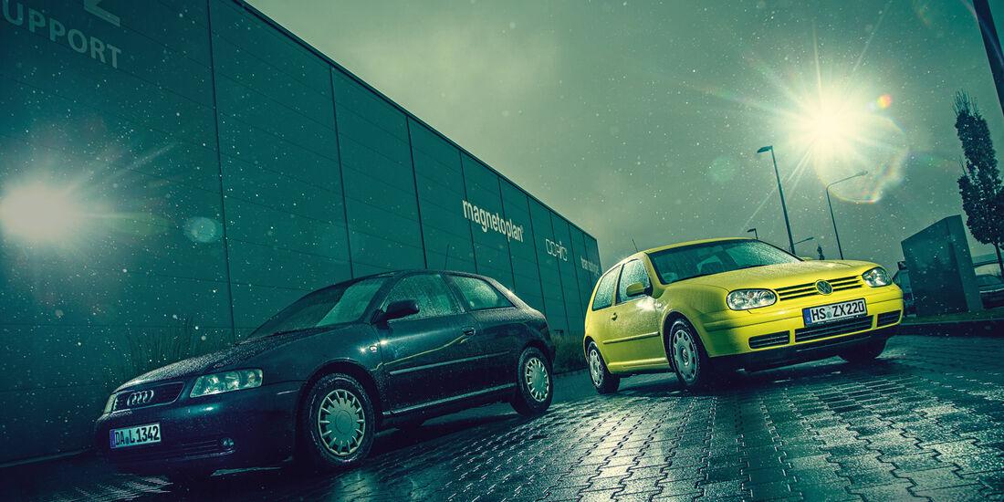 Volkswagen Golf 1.9 TDI, Audi A3 1.9 TDI, Frontansicht