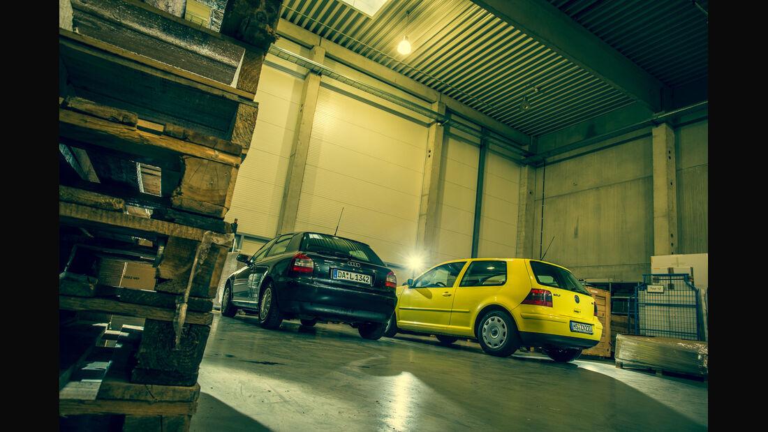 Volkswagen Golf 1.9 TDI, Audi A3 1.9 TDI, Heckansicht