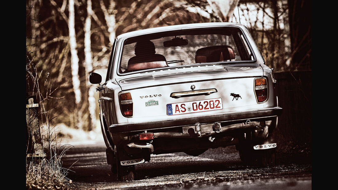 Volvo 144 de Luxe, Heckansicht
