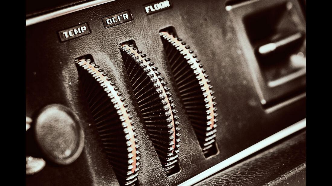Volvo 144 de Luxe, Heizung, Bedienelemente