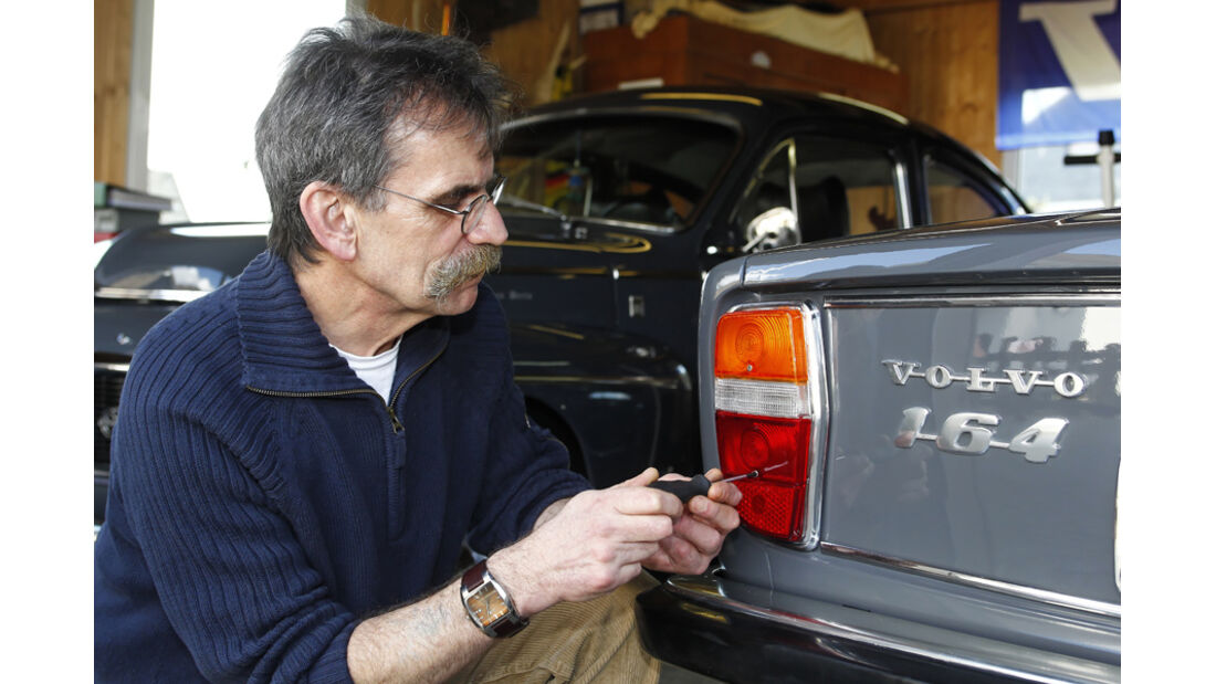 Volvo 164, Garage, Rücklicht, Heinz Vollmerhausen