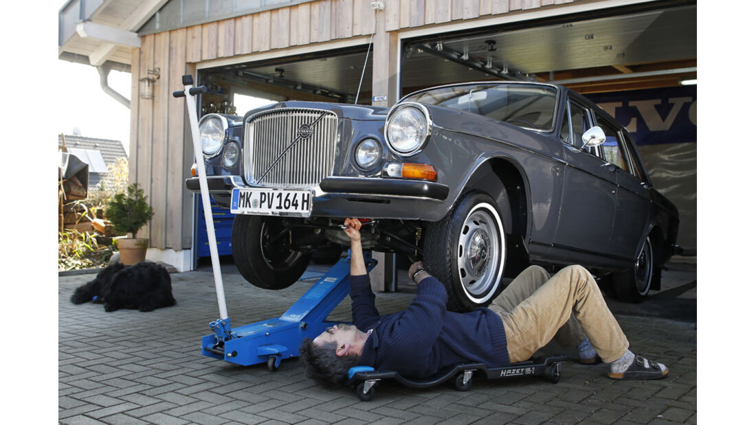 Volvo 164, Garage, Wagenheber, Heinz Vollmerhausen