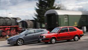 Volvo 343L, Volvo V40 D3, Seitenansicht