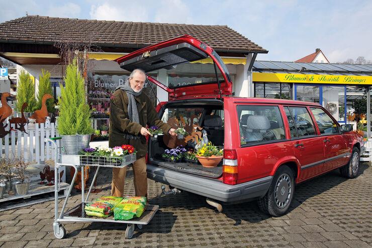 Volvo 740 Kombi, Kofferraum, Heckklappe