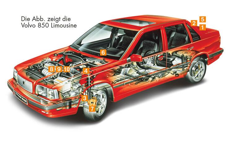 Volvo 850 Kombi, Schwachpunkte, Igelbild
