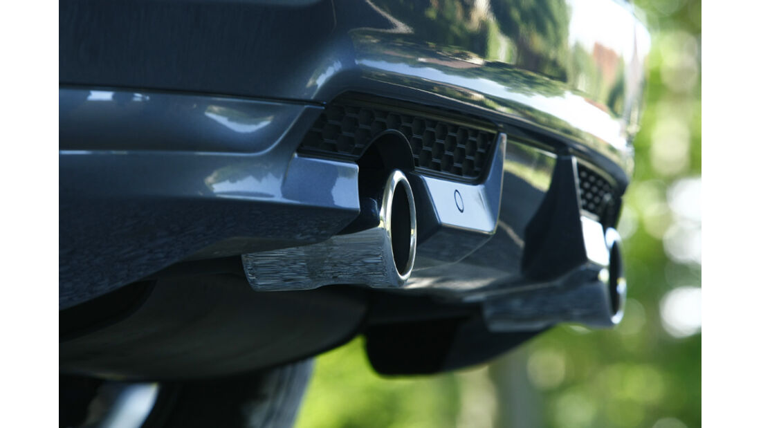 Volvo C30 D4, Auspuff