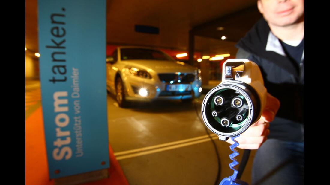 Volvo C30 Electric, Strom, tanken