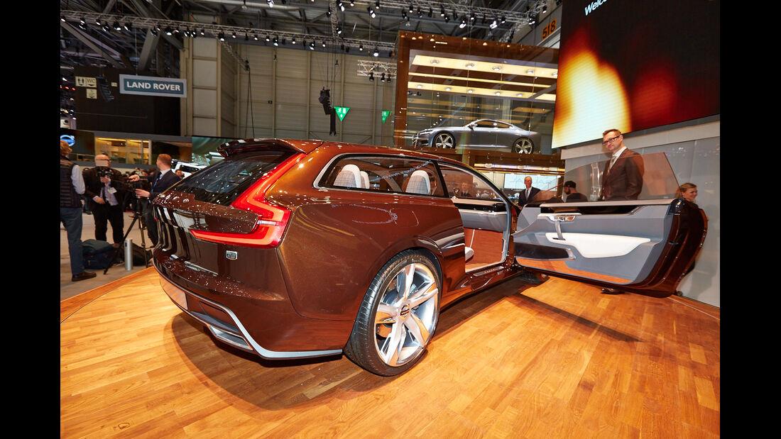 Volvo Estate Concept, Messe, Genf, 2014, Sitzprobe