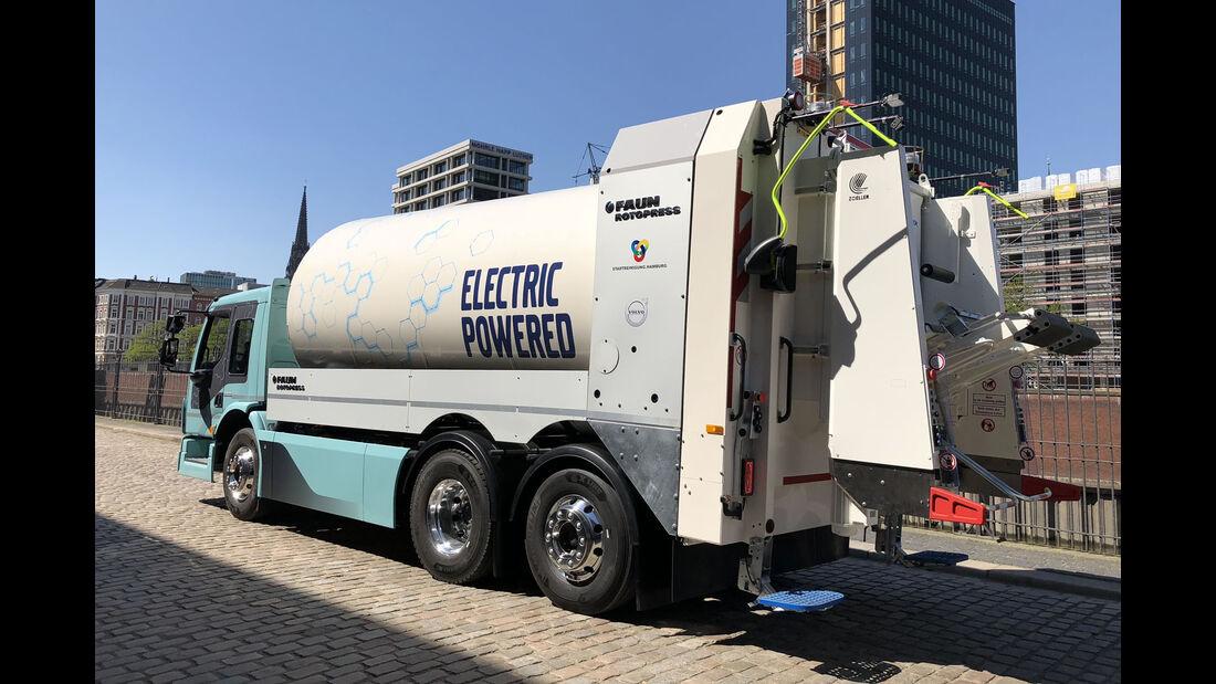Volvo FE Electric Truck Weltpremiere Hamburg 2018