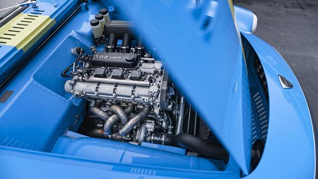 Volvo P1800 Cyan, Motorraum