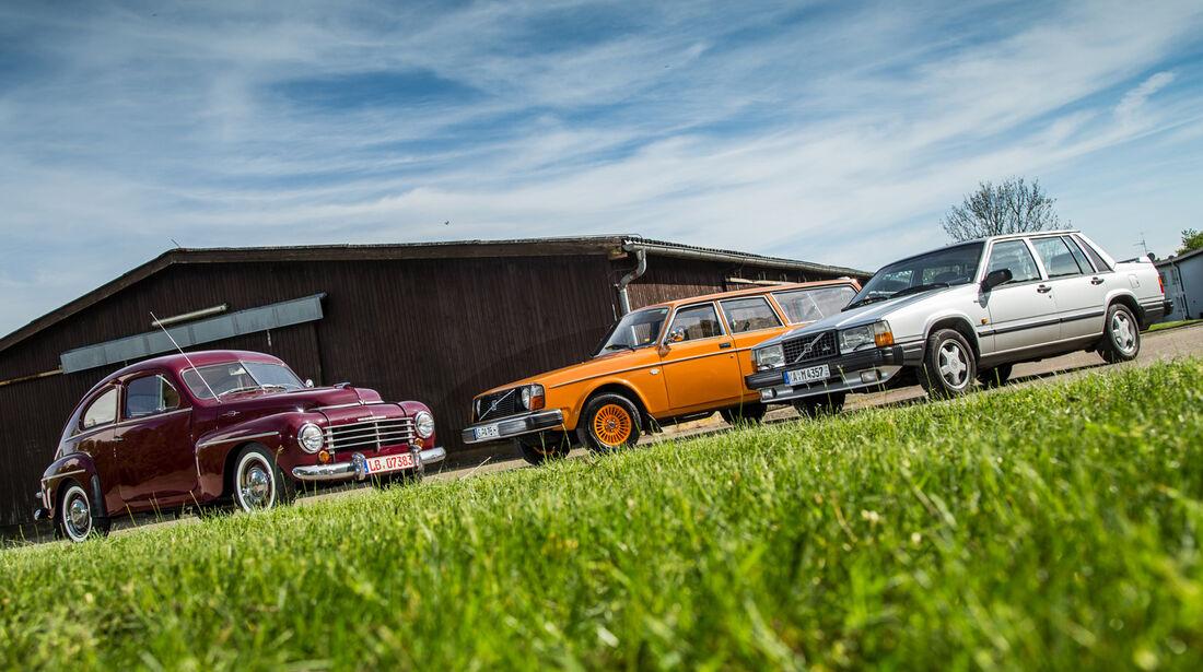 Volvo PV 444, Volvo 240, Volvo 740, Seitenansicht