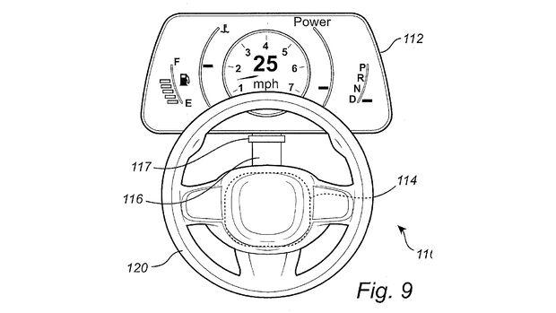 Volvo Patent verschiebbares Lenkrad