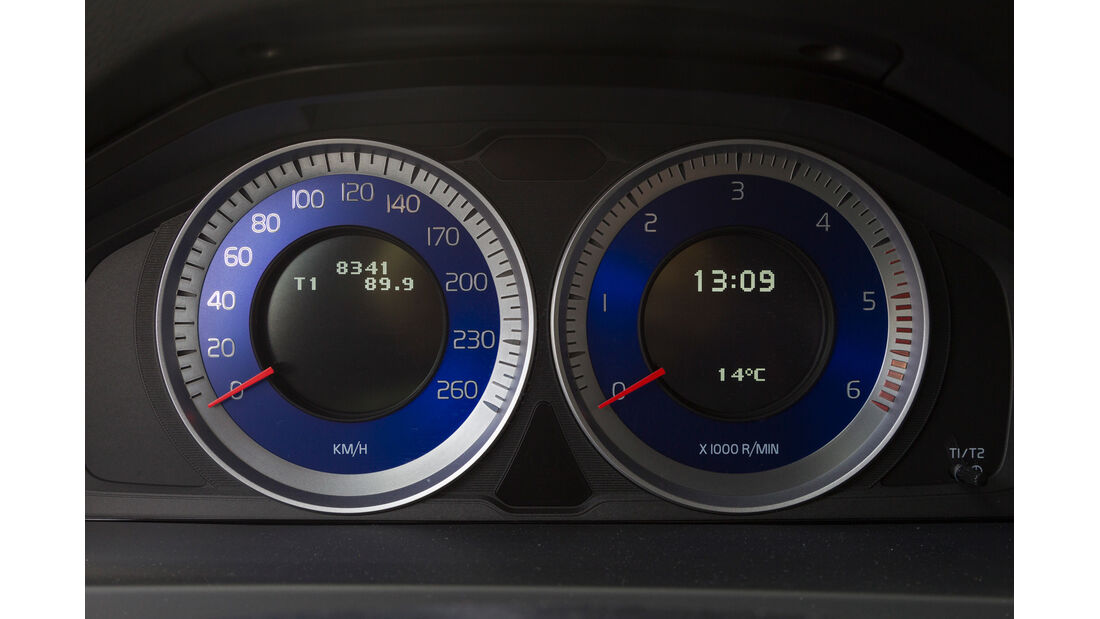 Volvo S60 D5 Polestar Edition R Design, Rundinstrumente, Tacho