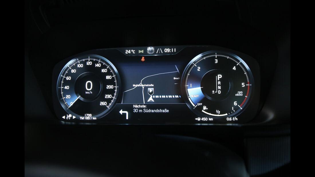 Volvo S90 D5 AWD, Anzeigeinstrumente