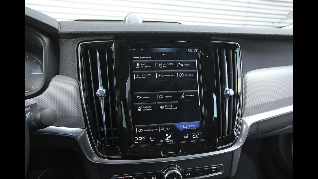Volvo S90 D5 AWD, Bildschirm
