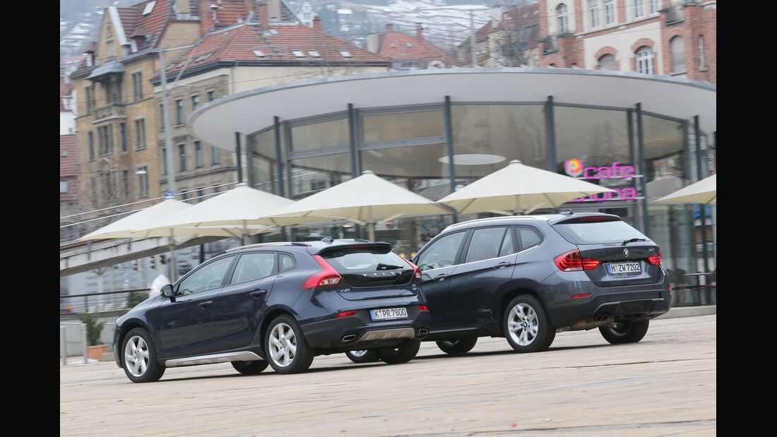Volvo V40 Cross Country, BMW X1 x-Drive 28i, Heckansicht