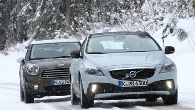 Volvo V40 Cross Country, Mini Cooper D Countryman, Frontansicht
