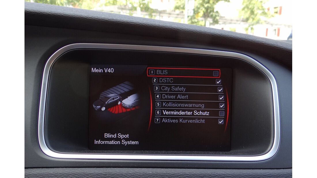 Volvo V40, Display