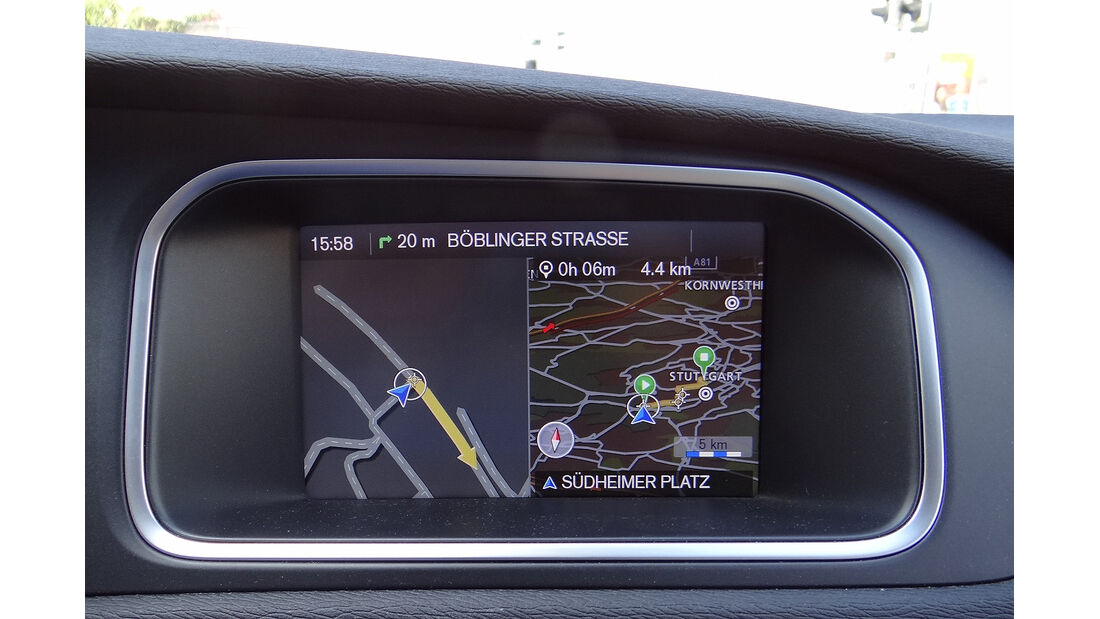 Volvo V40, Display, Navigationssystem