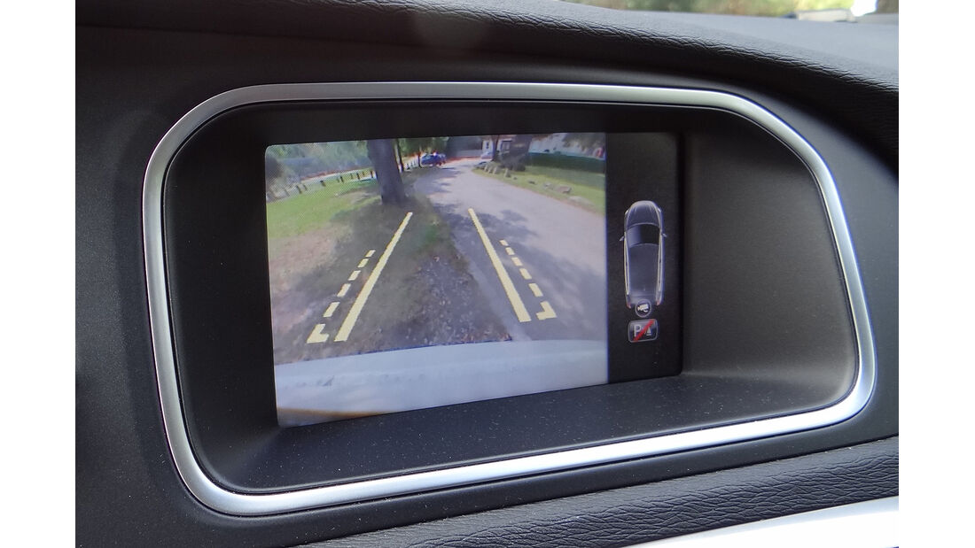 Volvo V40, Display, Rückfahrkamera